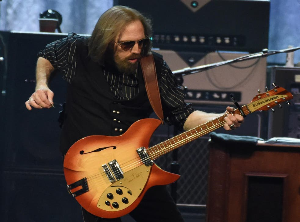 Tom Petty performs during their 40th Anniversary Tour at Bridgestone Arena in Nashville, Tennessee, in April