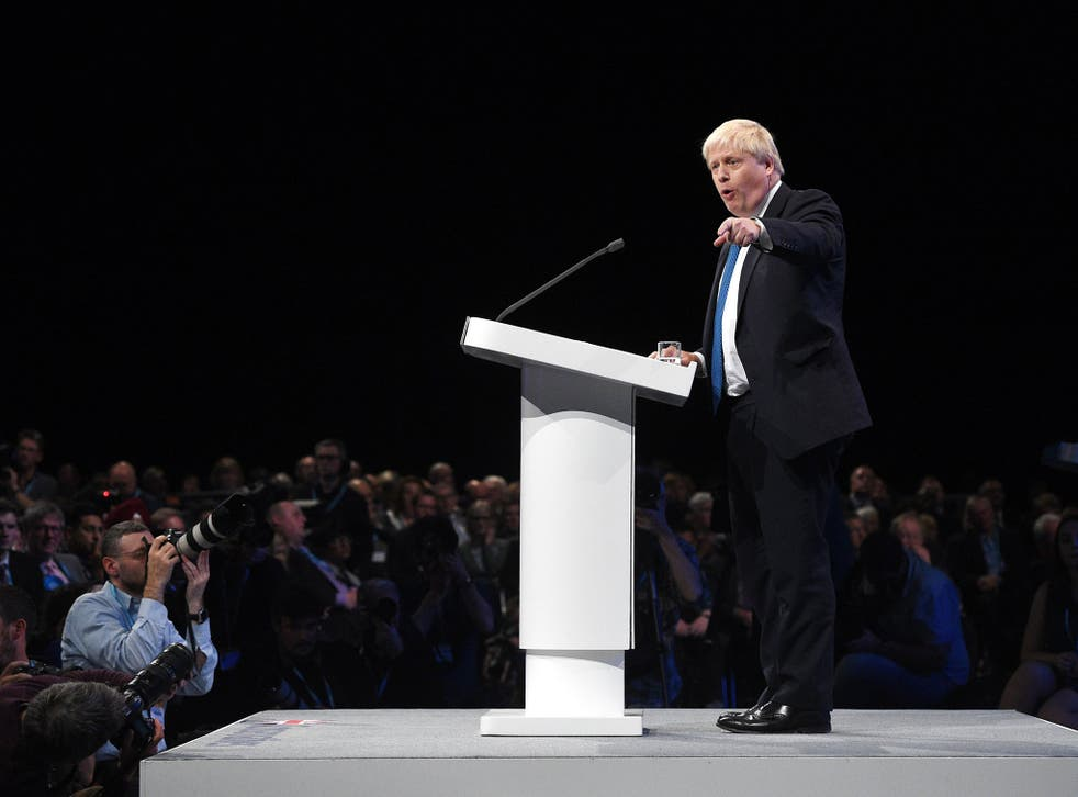 The Foreign Secretary made the comments at a fringe event following his conference speech