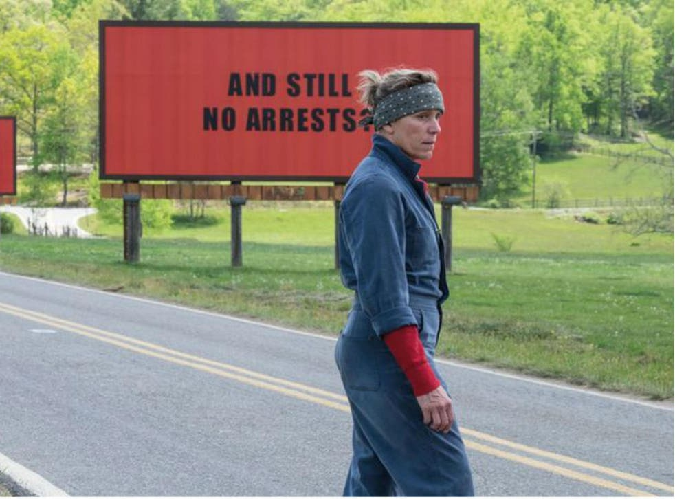 Frances McDormand plays the provocative Mildred Hayes, a mother chasing justice for the murder of her daughter in 'Three Billboards Outside Ebbing, Missouri'