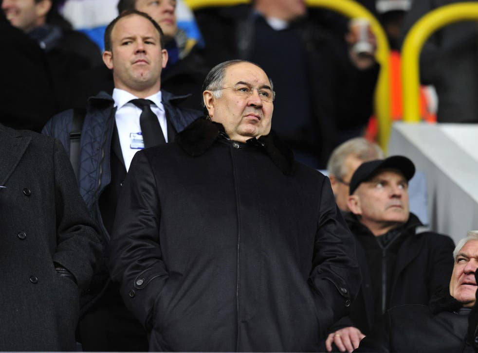 Usmanov has a 30 per cent stake in the club