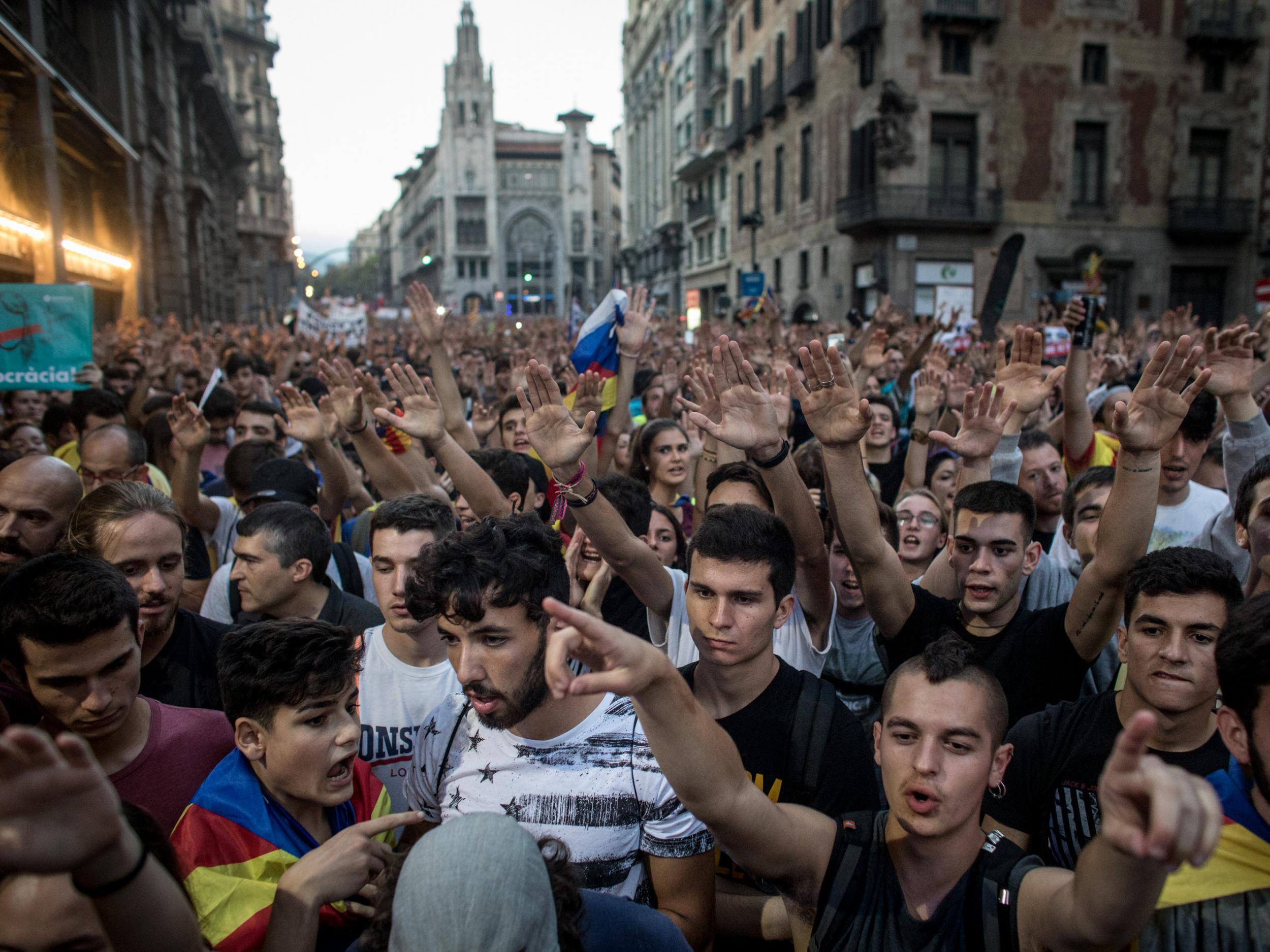 Catalonia independence referendum: Final results show 90% backed secession from Spain