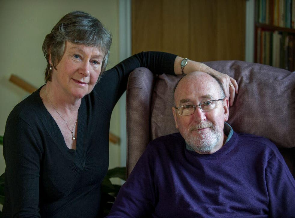 Noel Conway (above, with his wife Carol) feels 'entombed' by his motor neurone disease and wished to get assistance from the medical profession to bring about a 'peaceful and dignified' death