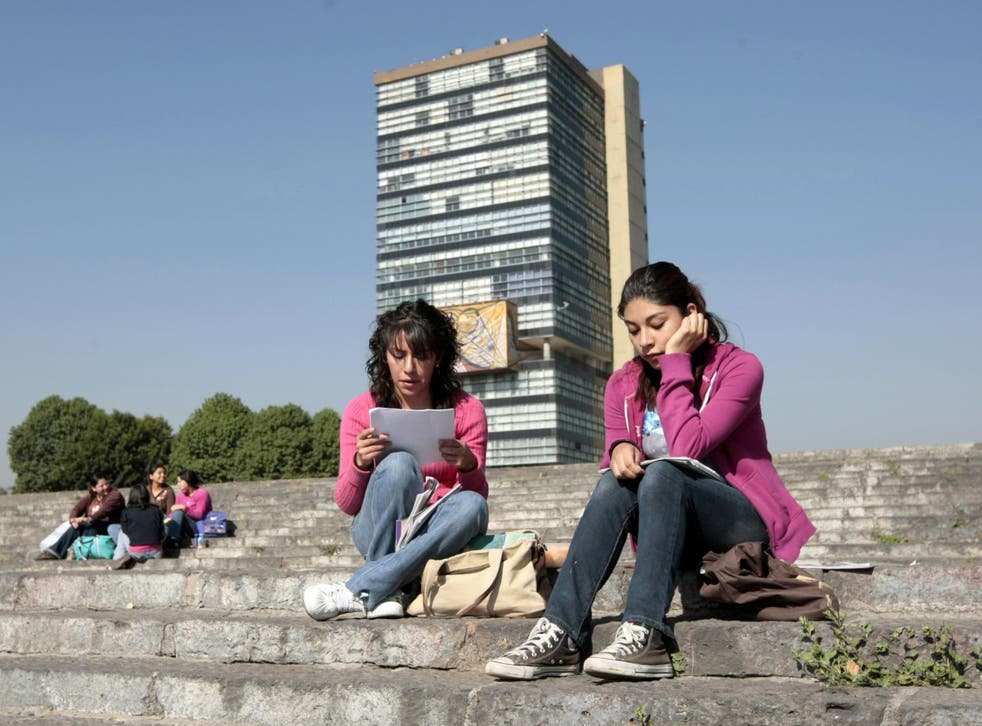 Students at the National Autonomous University of Mexico