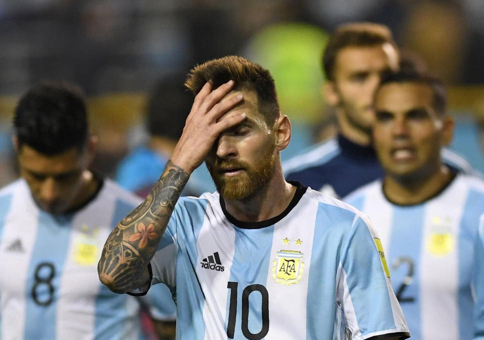 Image result for images of Messi fails to inspire Argentina against Colombia