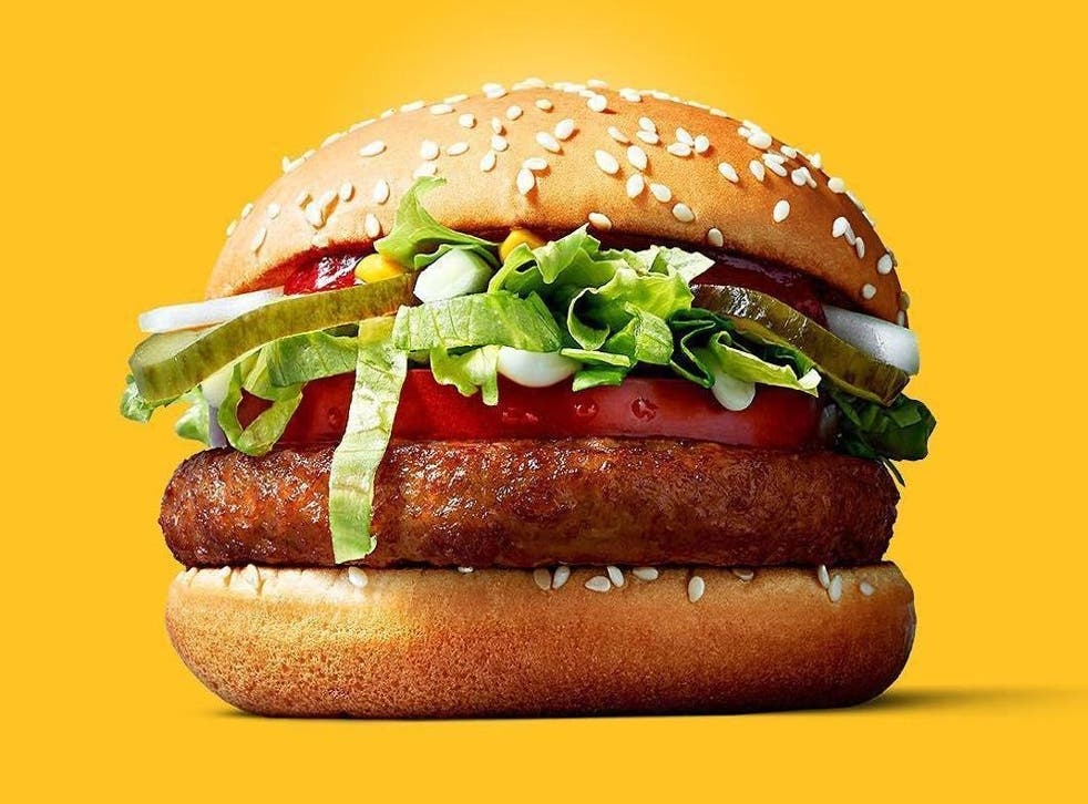 The McVegan, a plant-based burger from McDonalds, was a big hit with customersin Europe