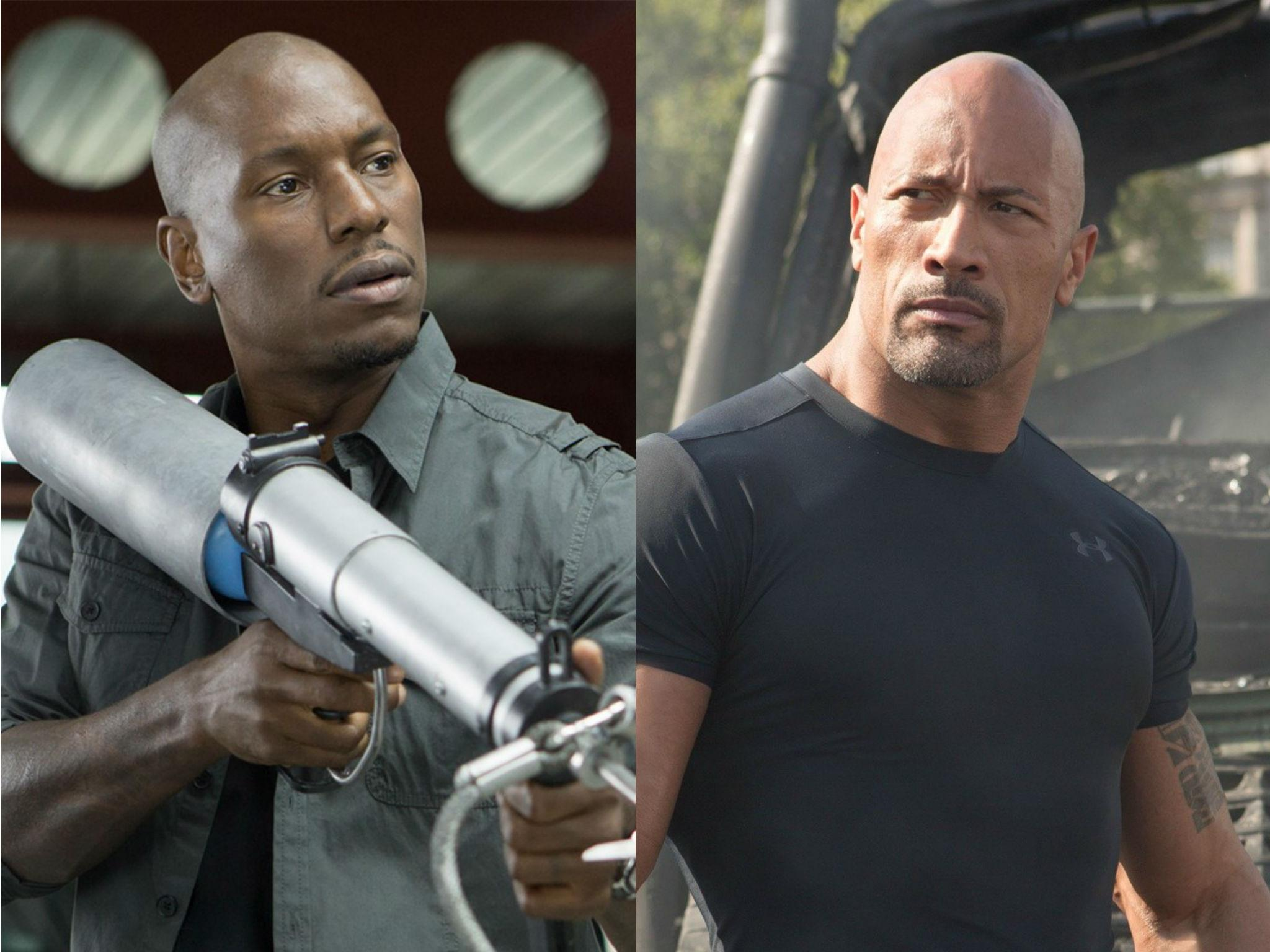 fast and furious 9 feud tyrese gibson hits out at dwayne johnson for delaying next film the. Black Bedroom Furniture Sets. Home Design Ideas