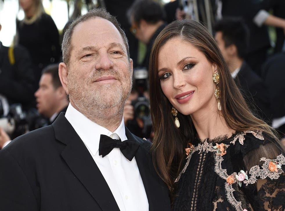 Weinstein with his wife, British fashion designer Georgina Chapman