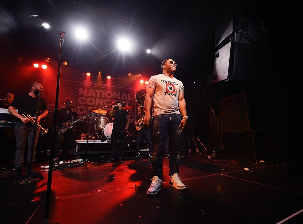 Rapper Nelly performs with the Roots on 1 May 2017 in New York City.