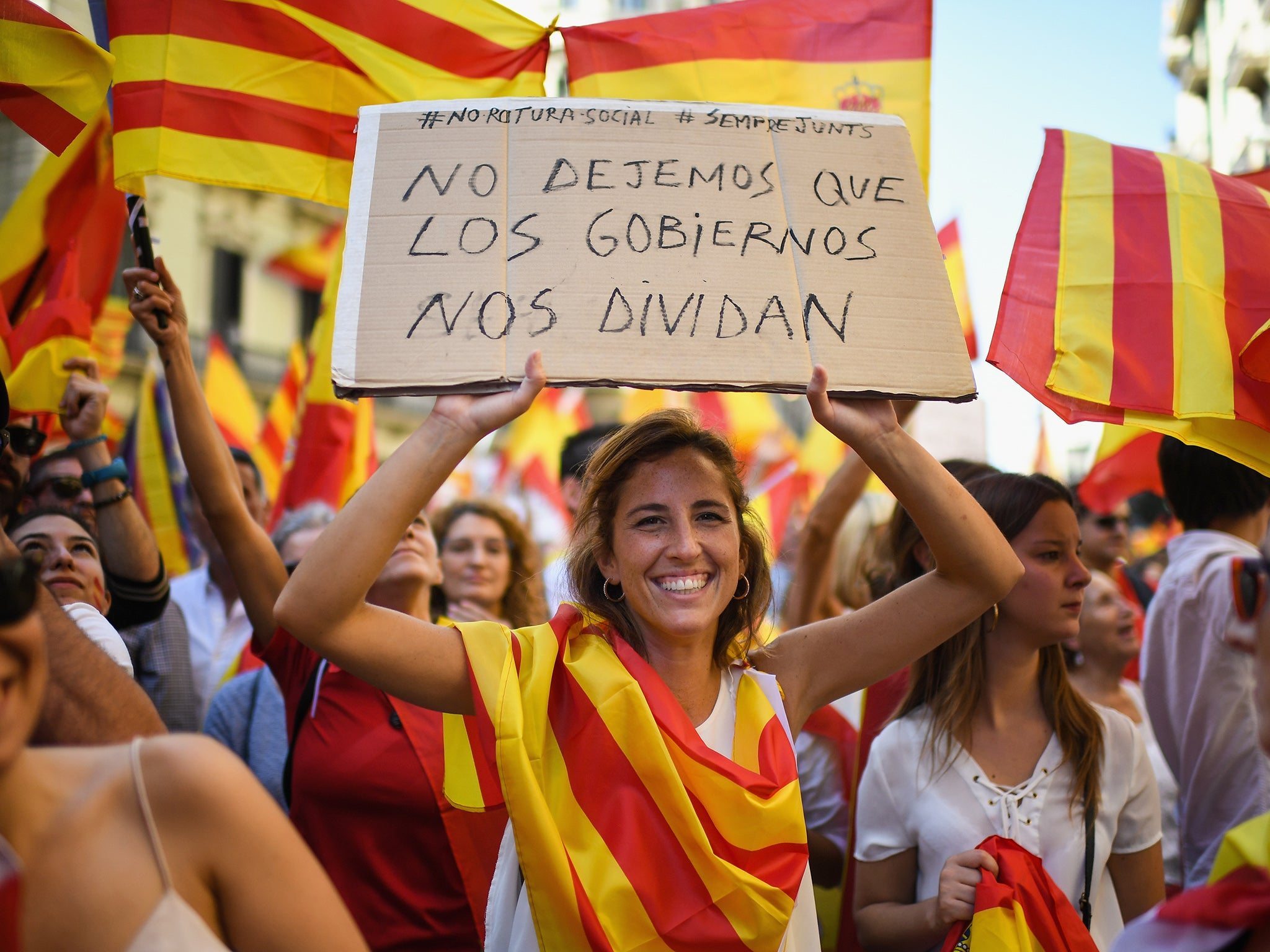 Catalan Referendum Thousands March For Spanish Unity Ahead Of Expected Declaration Of Independence