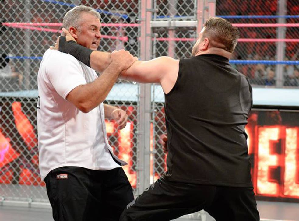 The two legends took part in a brutal Hell in a Cell match