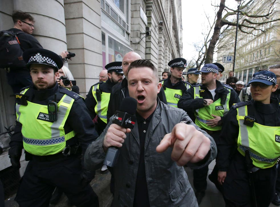 Former EDL leader Tommy Robinson's Twitter followers jumped by 17 per cent in two days after Manchester terror attack