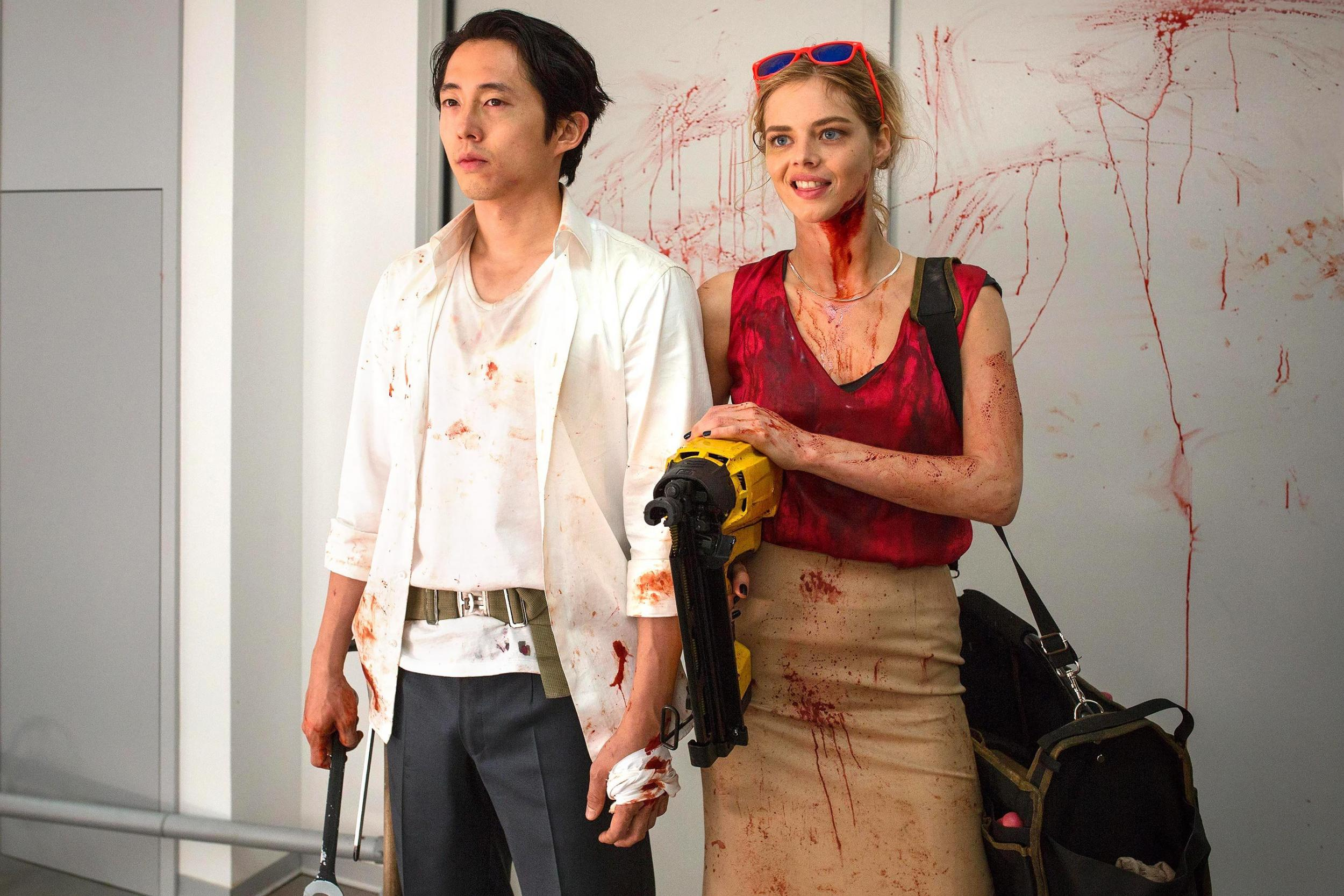 The Walking Dead star Steven Yeun's new film Mayhem has 100% on Rotten Tomatoes