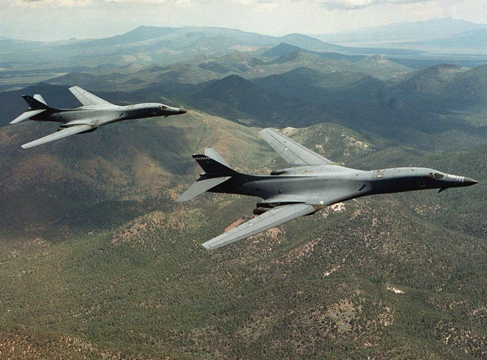 File image of US B-1B Lancer bombers