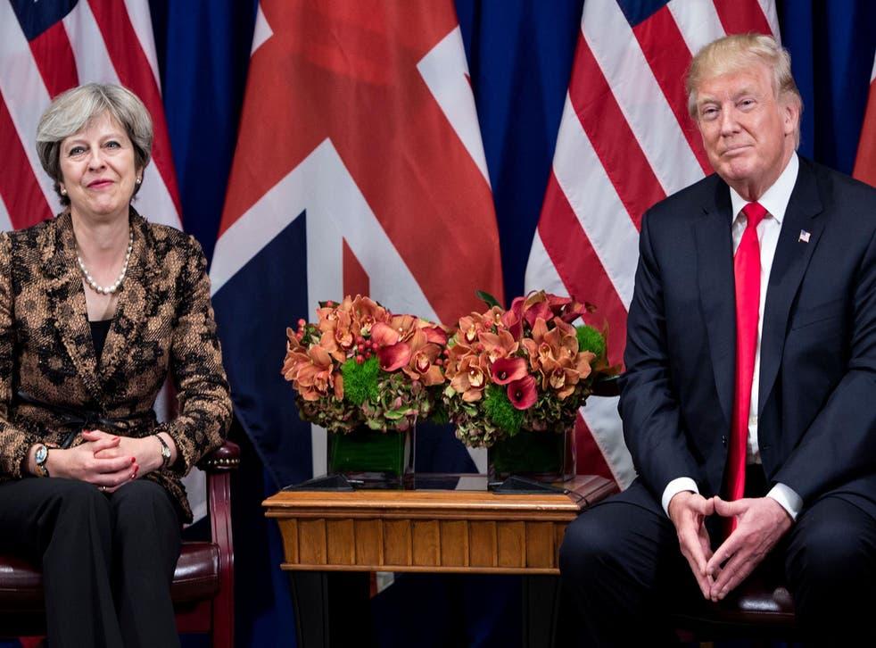 Theresa May and Donald Trump during UN General Assembly