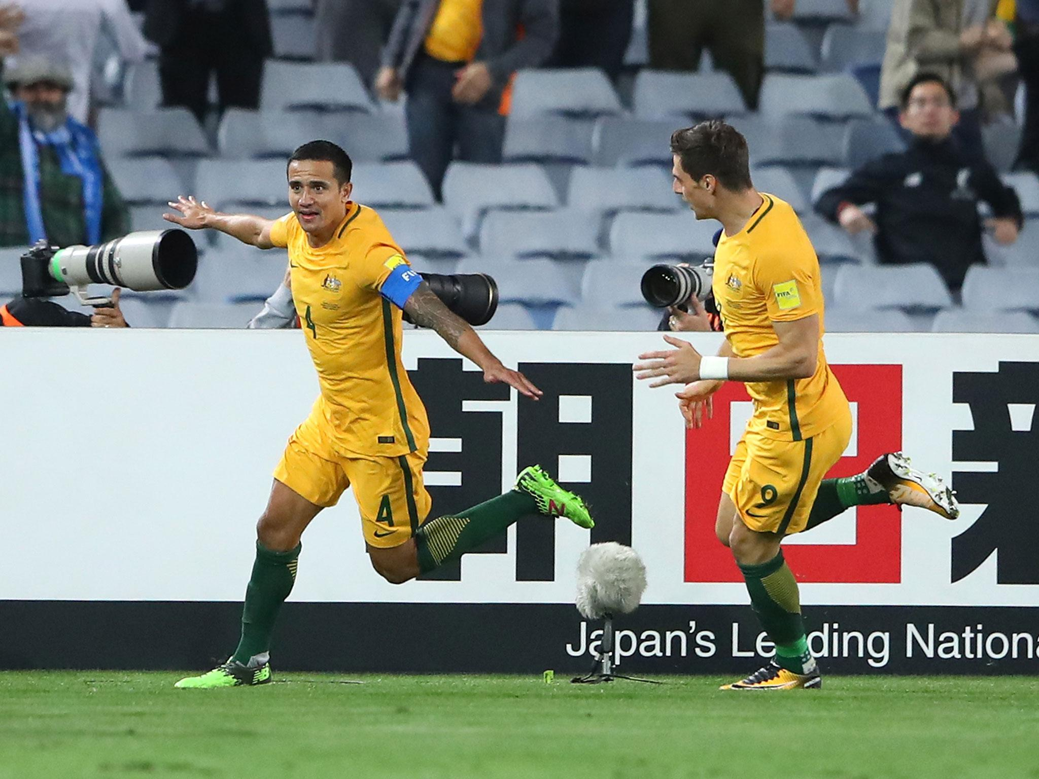 Tim Cahill was paid to do a sponsored goal celebration in crucial World Cup play-off