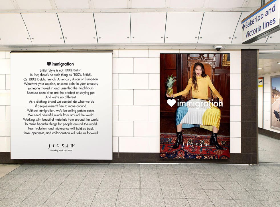The campaign in Oxford Circus tube station has been praised on Twitter