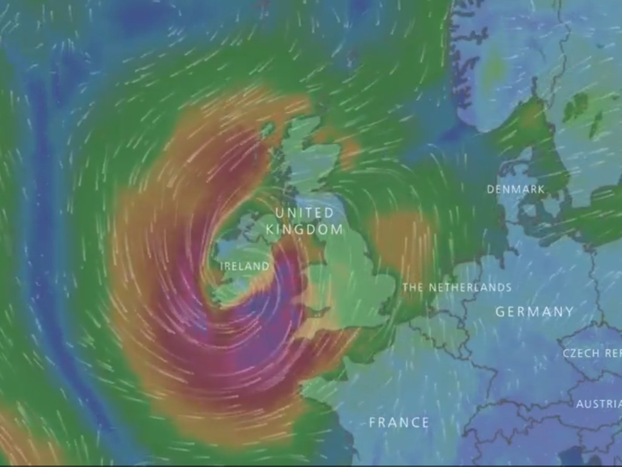 Hurricane Ophelia reaches 100mph winds as it approaches UK threatening travel disruption and power cuts