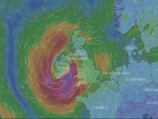 Hurricane Ophelia reaches 100MPH winds as it approaches UK