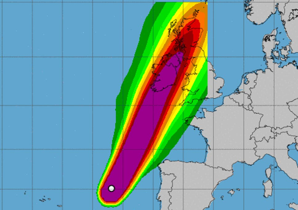 Hurricane Ophelia: trains, boats and planes cancelled ahead of storm