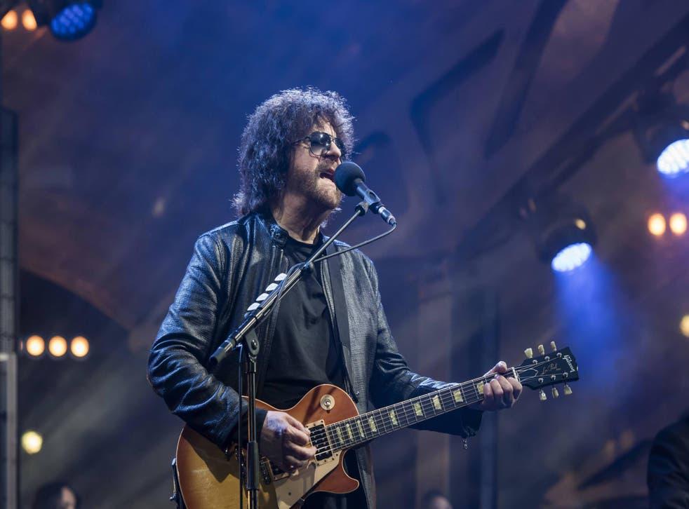 Jeff Lynne performs at Wembley Stadium