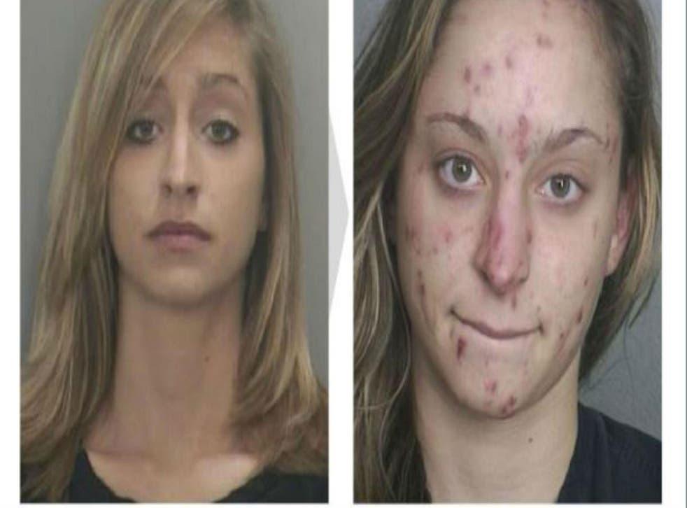 Shocking mugshots show toll of drug abuse on prostitute