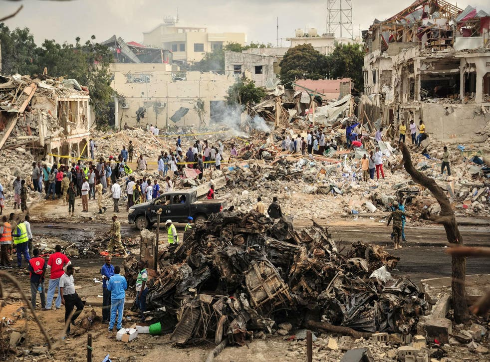 More than 300 people were killed in the massive bomb blast