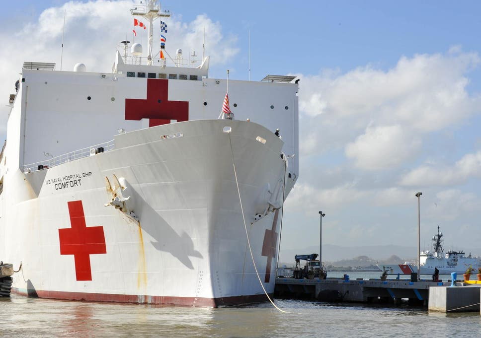 Puerto ricos floating hospital ship could be saving lives but no the usns comfort has been deployed to puerto rico but nobody knows how to get stopboris Choice Image