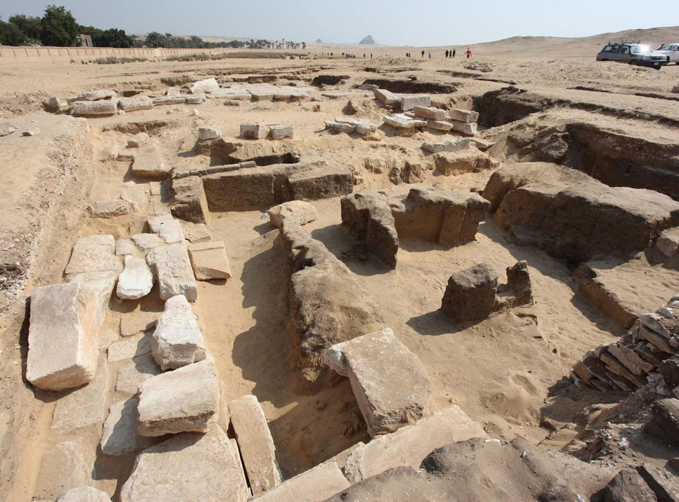 The remains of the Ramses II temple