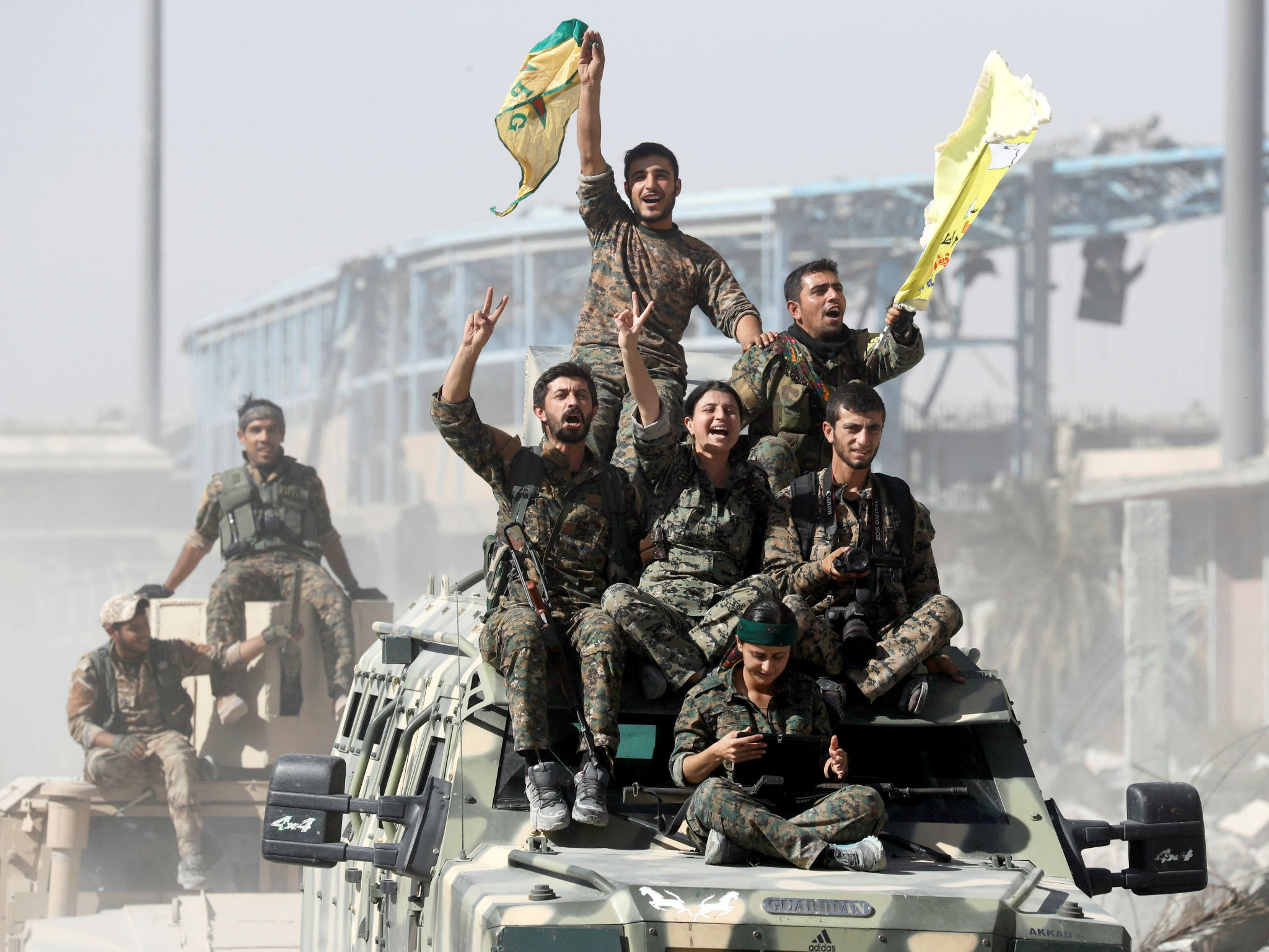 Image result for We suffered in Raqqa. Hundreds of good men & women died fighting ISIS.