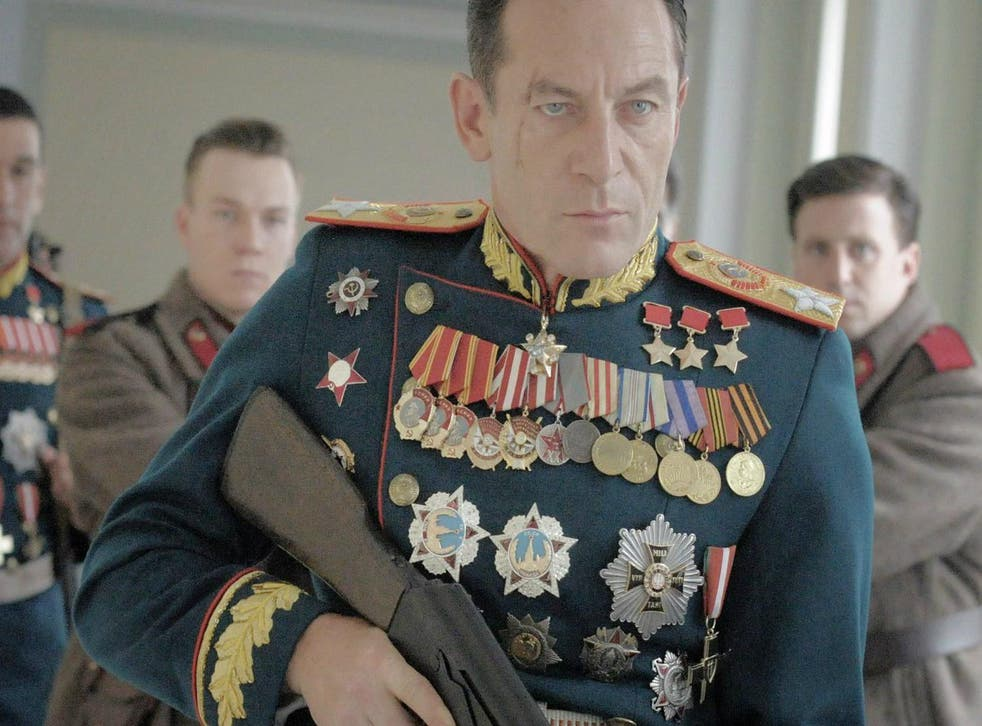 Jason Isaacs appearing in a cameo as military hero Marshal Zhukov