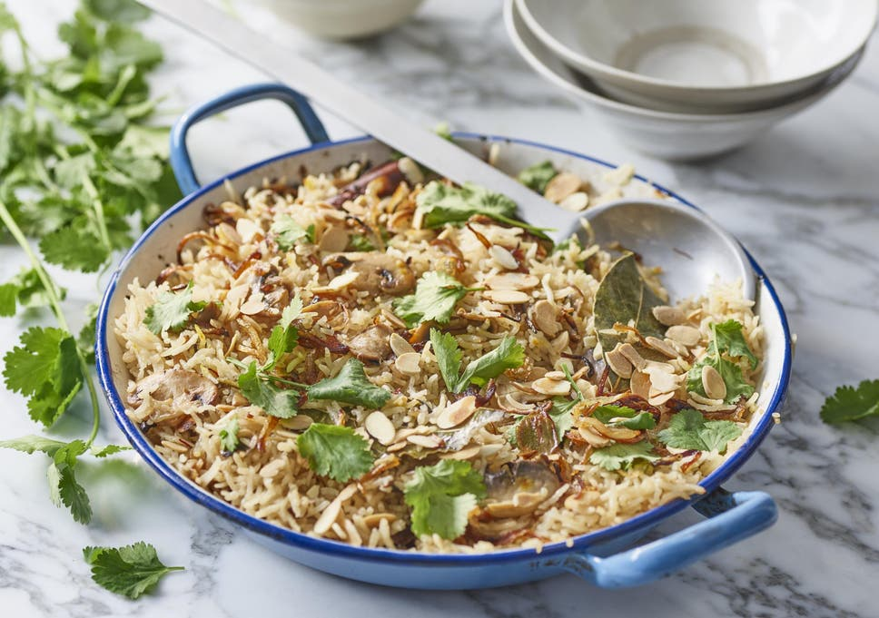 how to make mushroom pilau rice the independent