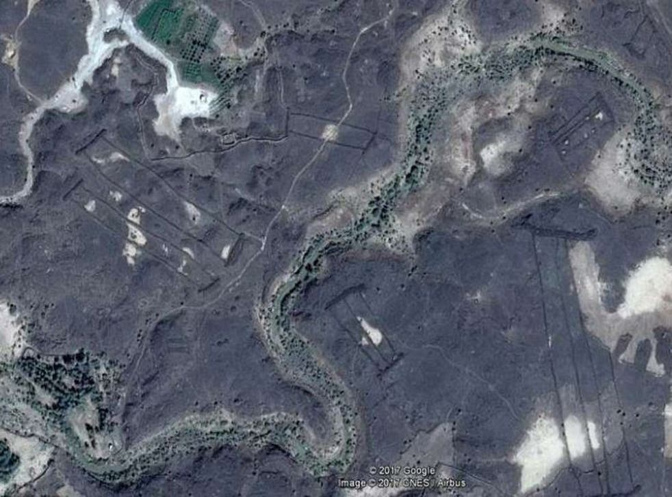 Images of gates captured by Google Earth