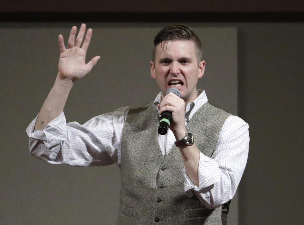 Richard Spencer speaks at the Texas A&M University campus in 2016