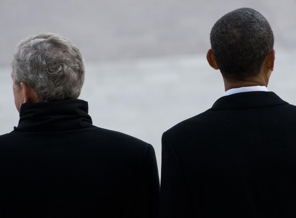 Turning their backs on Trump: the former presidents implied the Trump administration had taken US politics back to the last century