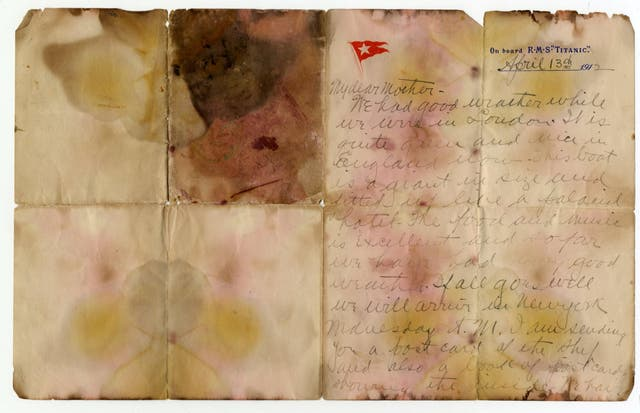 Holverson's note is the last known letter written on board Titanic by a victim