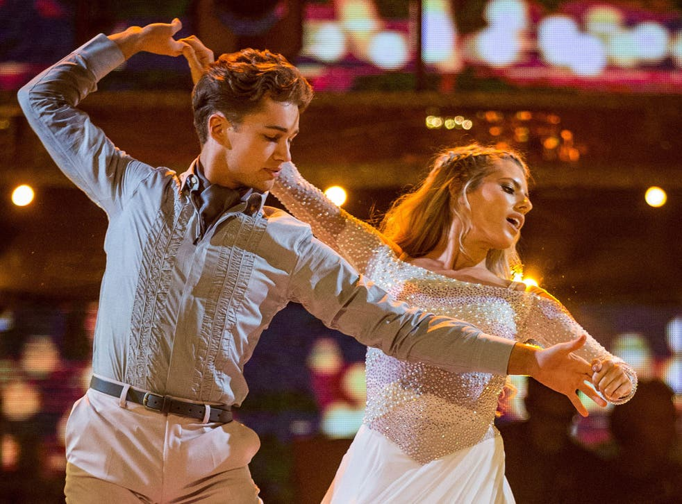 Mollie King and her dance partner AJ Pritchard competing in Strictly Come Dancing