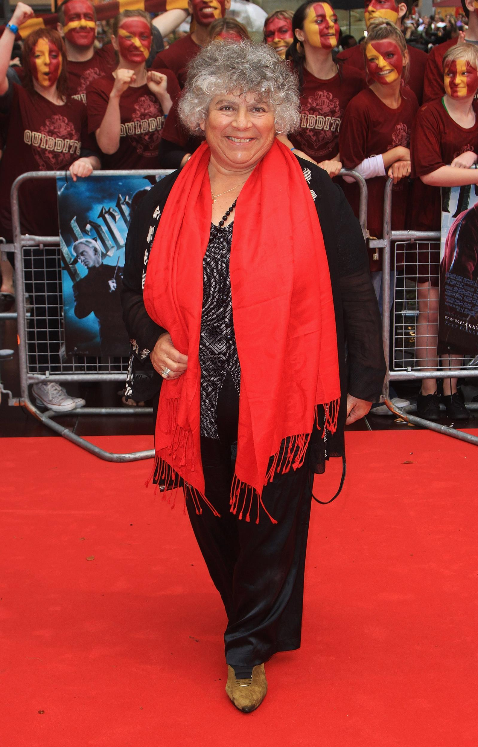 2ec960a6cdc5 Miriam Margolyes arrives for the World Premiere of Harry Potter And The Half  Blood Prince at Empire Leicester Square on 7 July 2009.