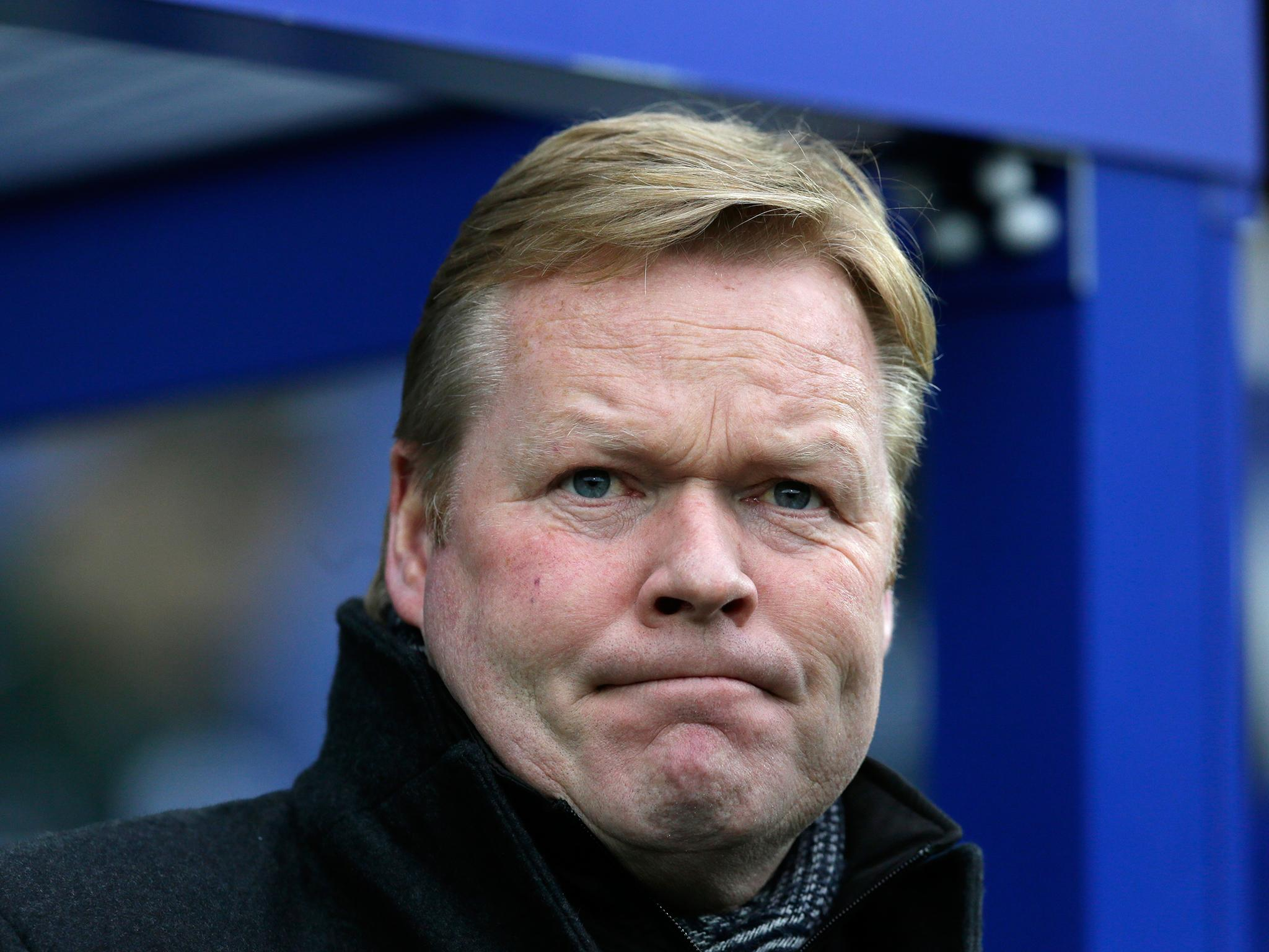 Ronald Koeman has been sacked by Everton