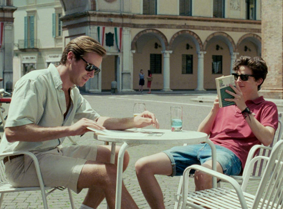 Hammer and Timothee Chalamet in 'Call Me by Your Name'