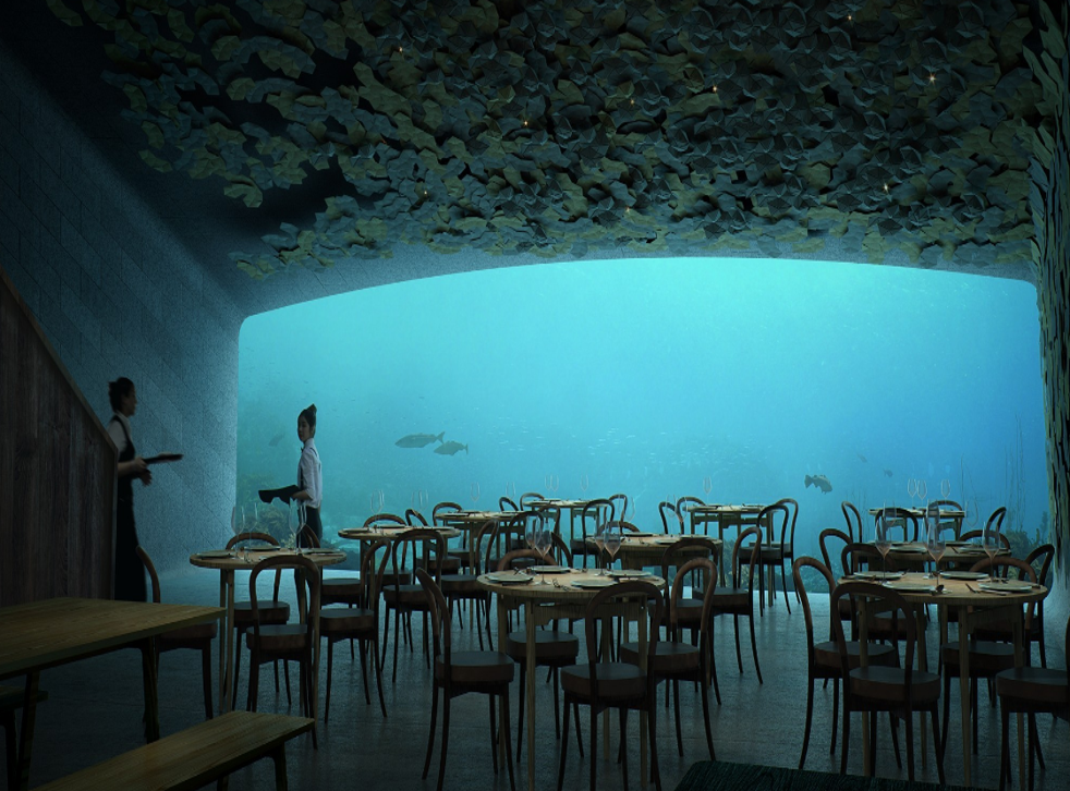 Under, a sub-sea restaurant, will accommodate up to 100 diners