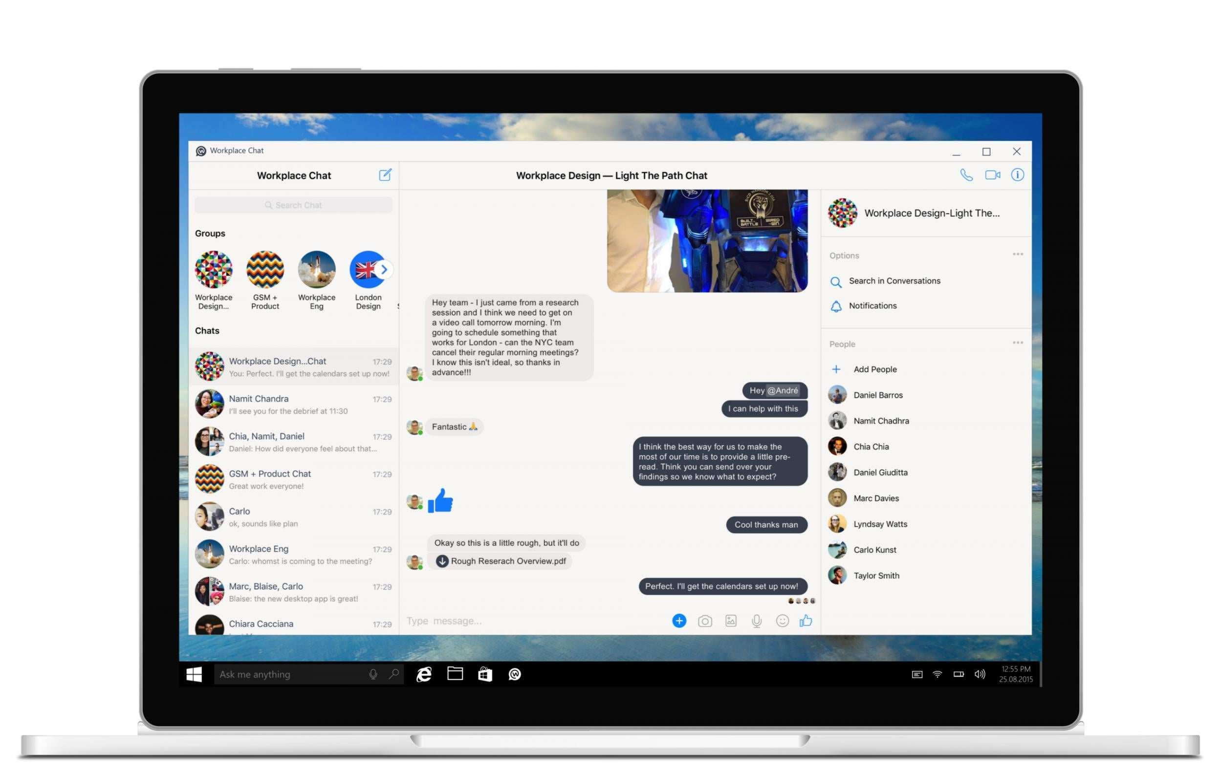 Facebook launches chat app designed to make you do more work