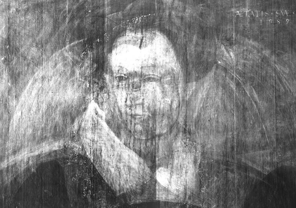 Rare ghostly image of Mary Queen of Scots discovered hidden beneath