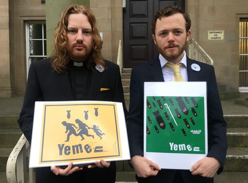 Reverend Daniel Woodhouse and Sam Walton were cleared of BAE criminal damage