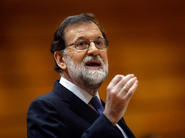 Spain's Prime Minister Mariano Rajoy has called for calm after Catalonia declared independence