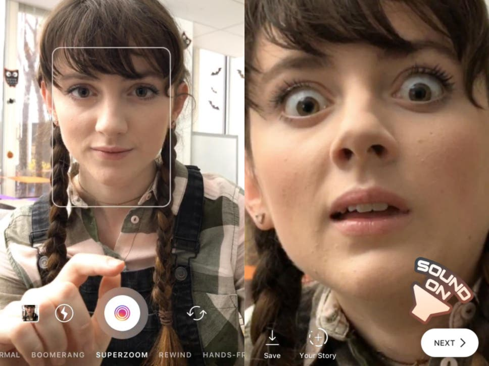 Instagram launches fun superzoom feature and halloween face filters instagram launches fun superzoom feature and halloween face filters ccuart Image collections