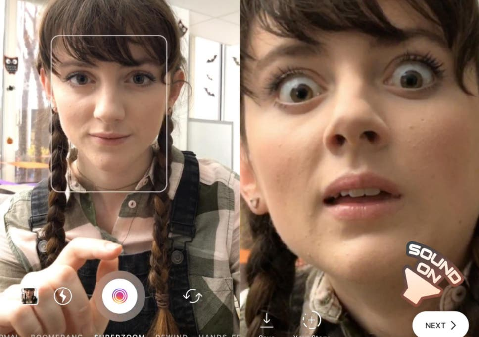 Instagram launches fun Superzoom feature and Halloween face