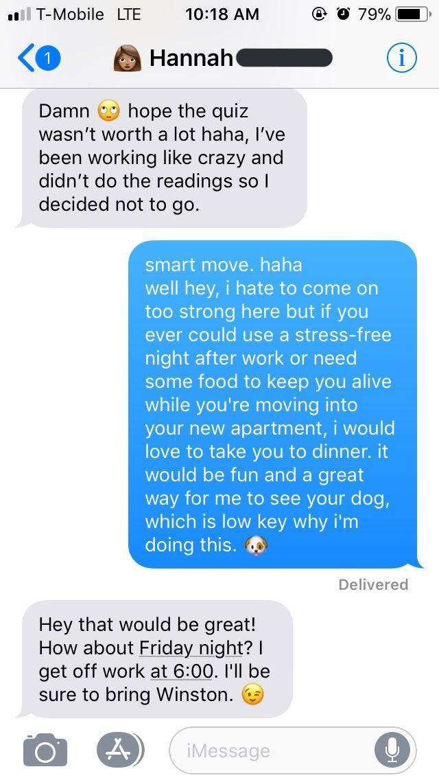 Guy asks his English teacher for advice on how to get a date, and it