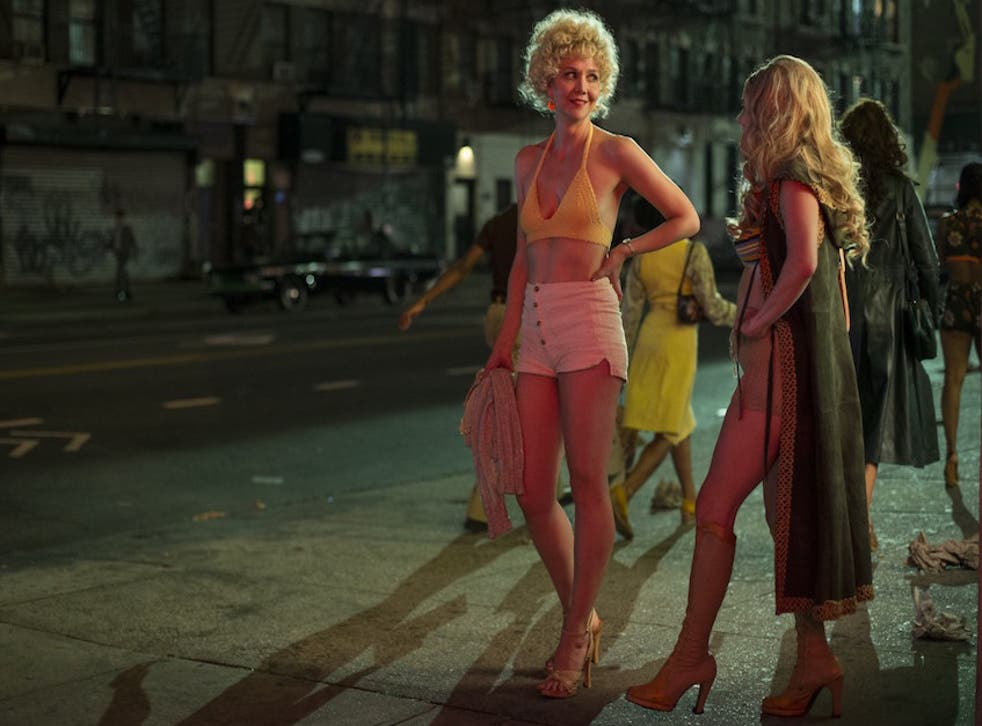 Working-girl wardrobe: Maggie Gyllenhaal as Candy in 'The Deuce'