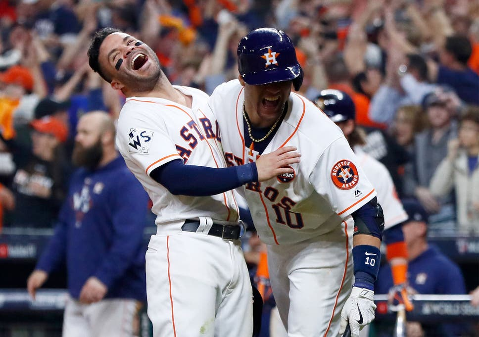 size 40 bc00c 6eba3 The ball is juiced': Houston Astros within a game of World ...