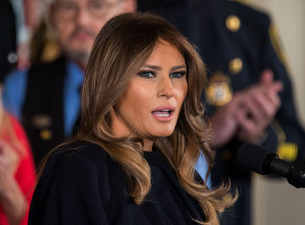 US First Lady Melania Trump said her thoughts and prayers were with the victims